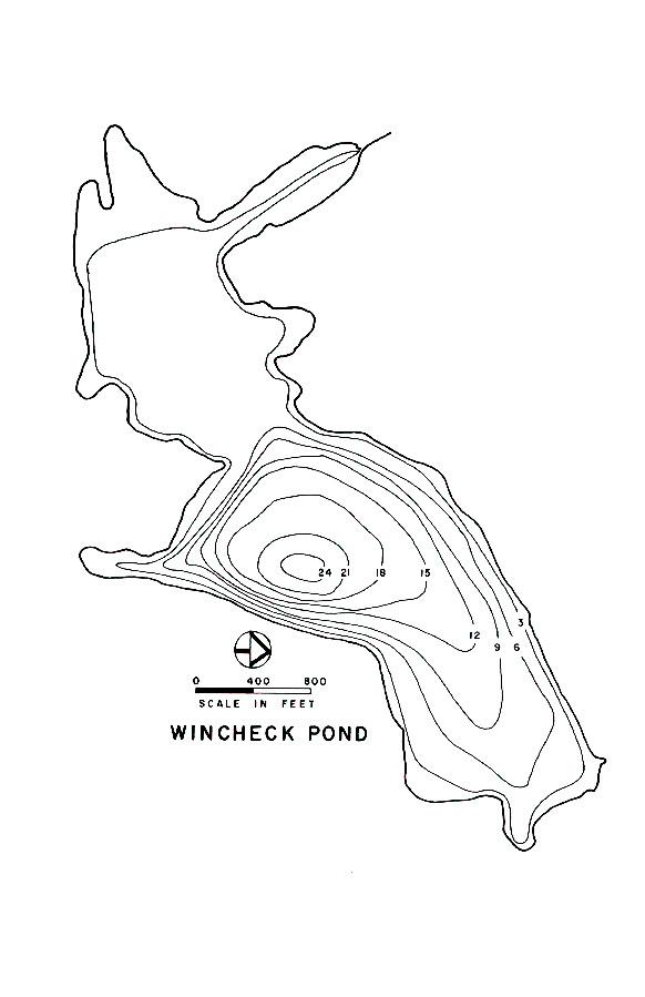 Wincheck Pond Lake Map