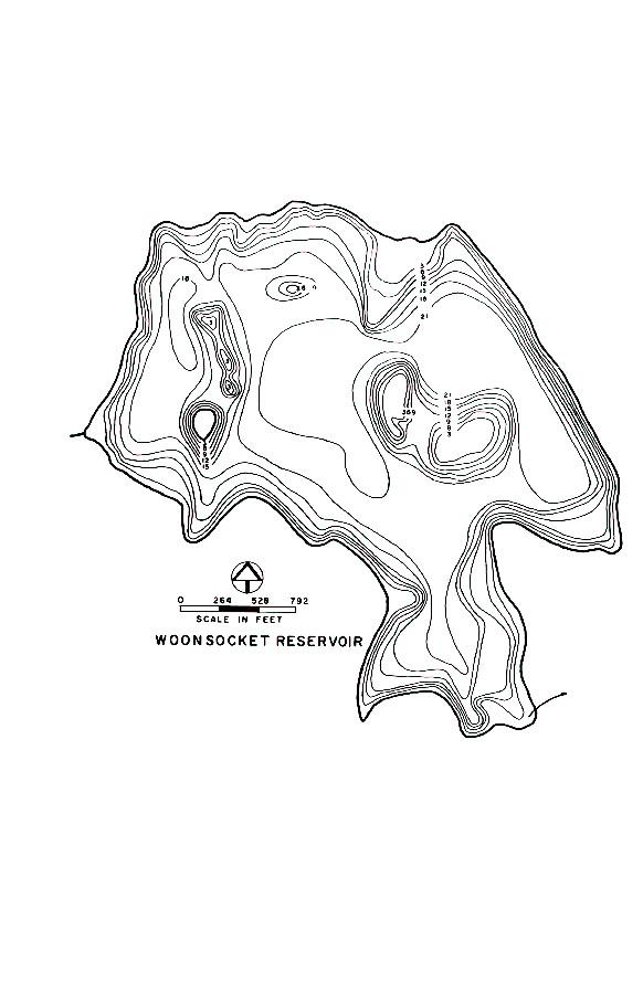 Woonsocket Reservoir Map