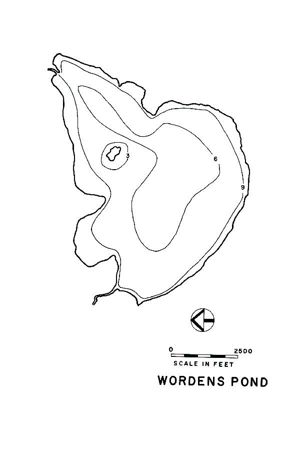 Wordens Pond Lake Map