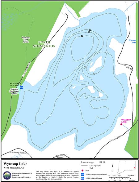 Wyassup Lake Map