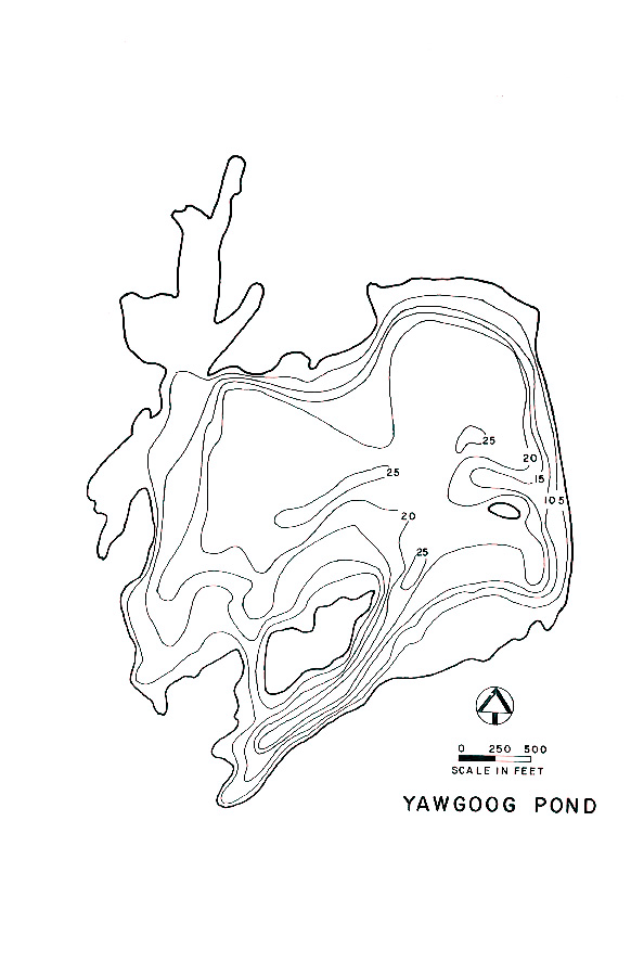 Yawgoog Pond Lake Map