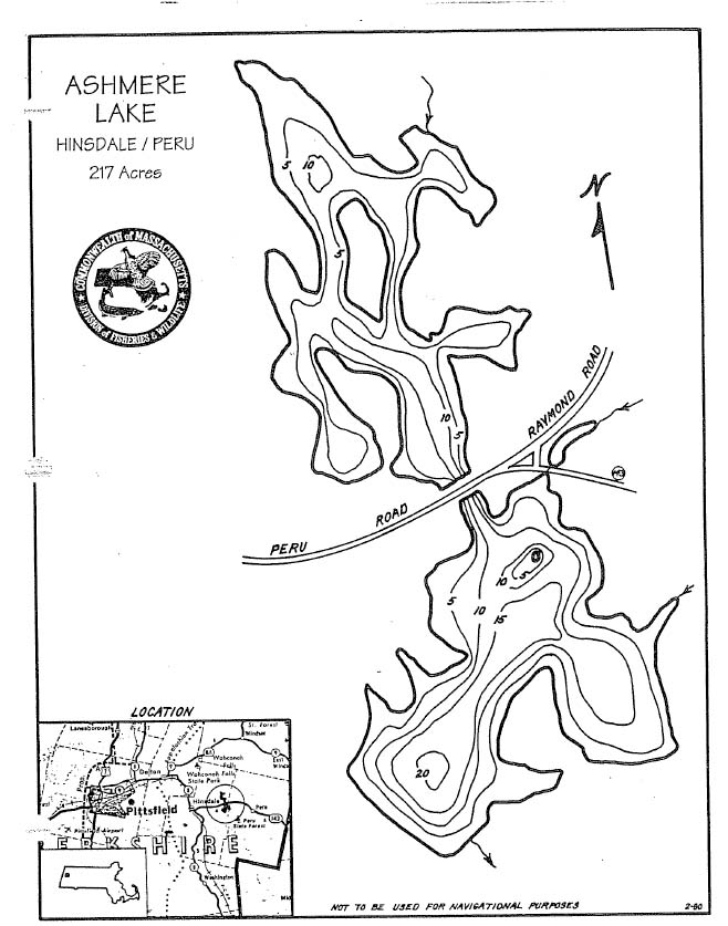 Ashmere Lake Map