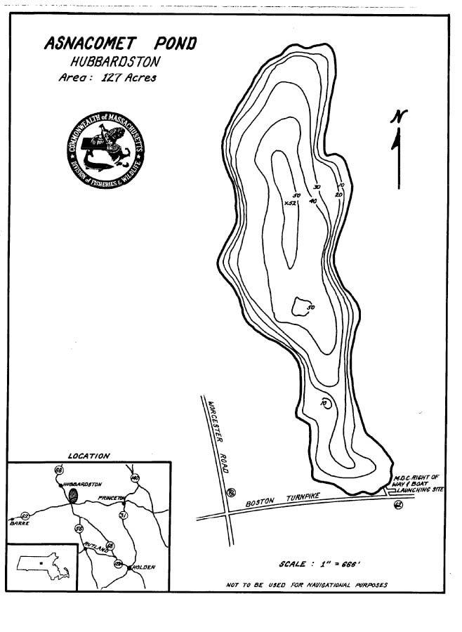 Asnacomet Pond Map