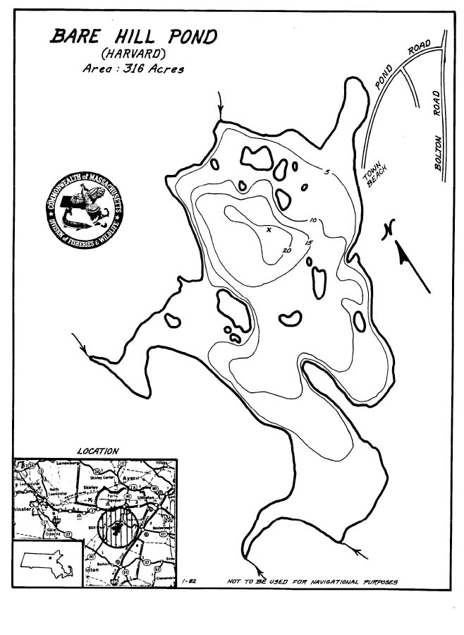 Bare Hill Pond Map