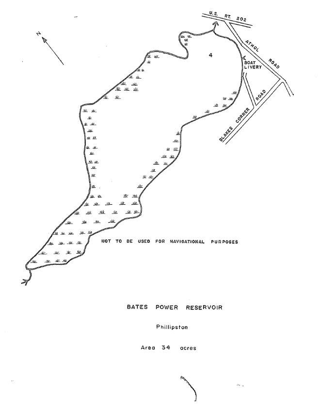 Bates Power Reservoir Map