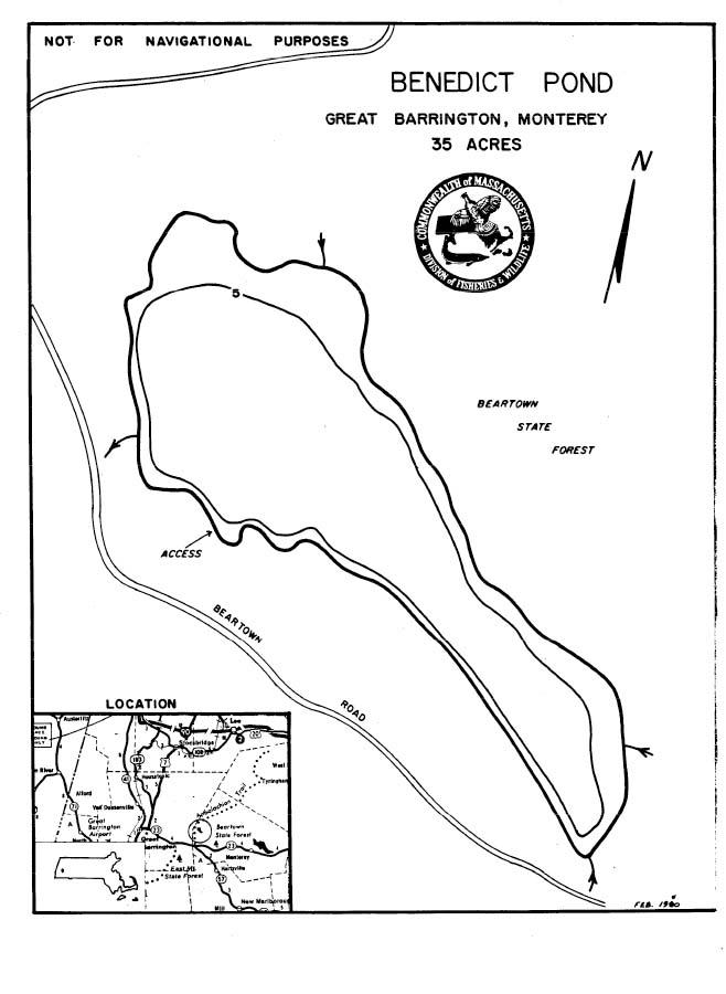 Benedict Pond Map