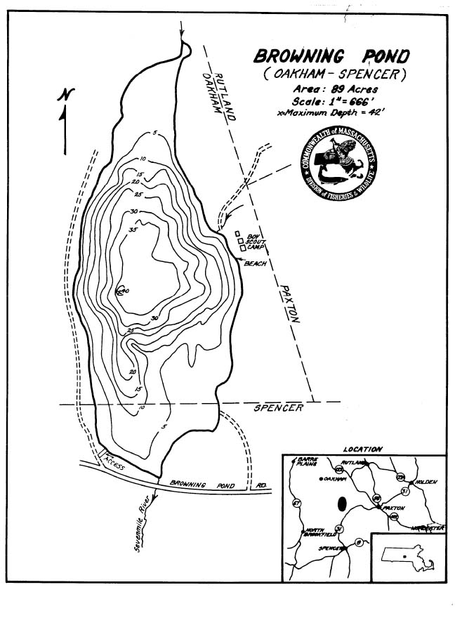 Browning Pond Map