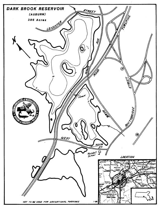 Dark Brook Reservoir Map