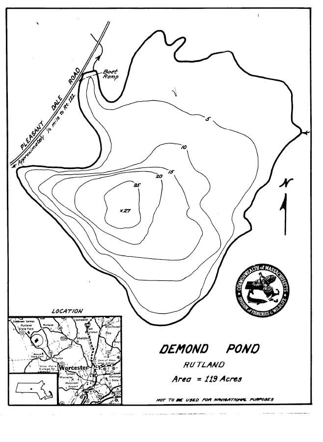Demond Pond Map