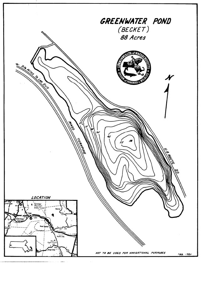 Greenwater Pond Map