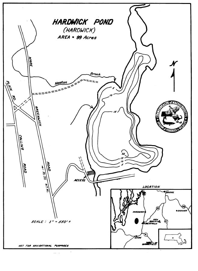 Hardwick Pond Map