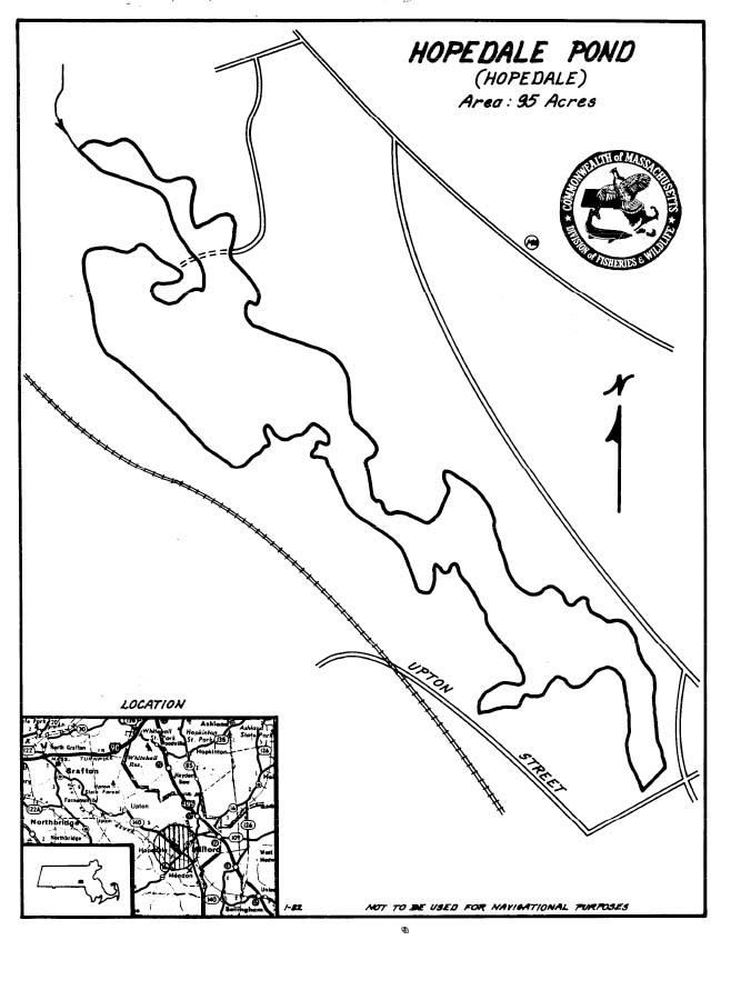 Hopedale Pond Map