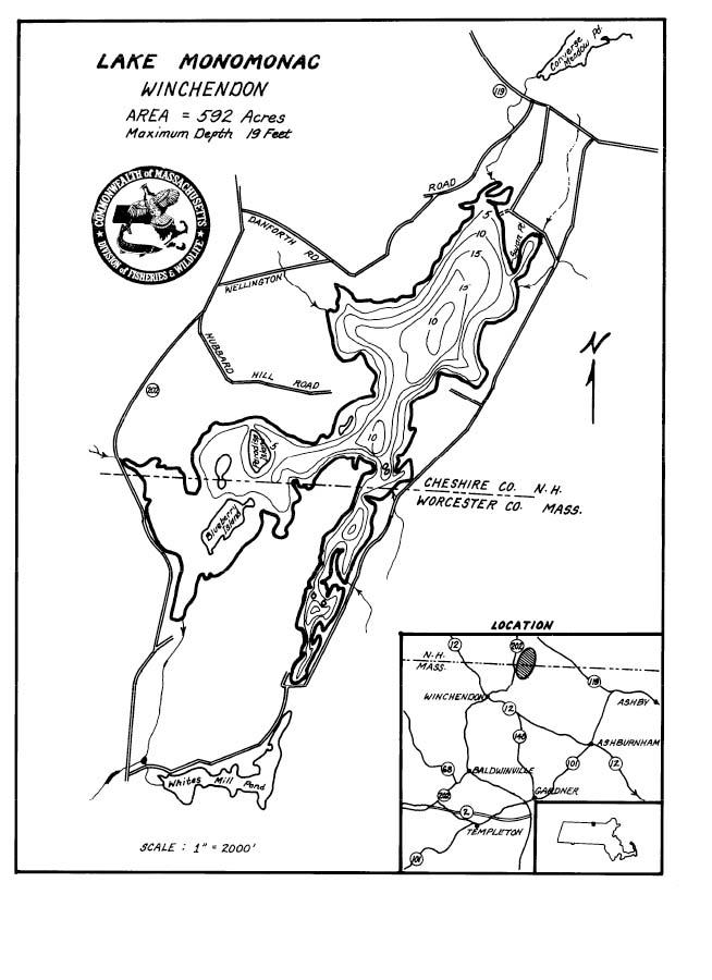 Lake Monomonac Map