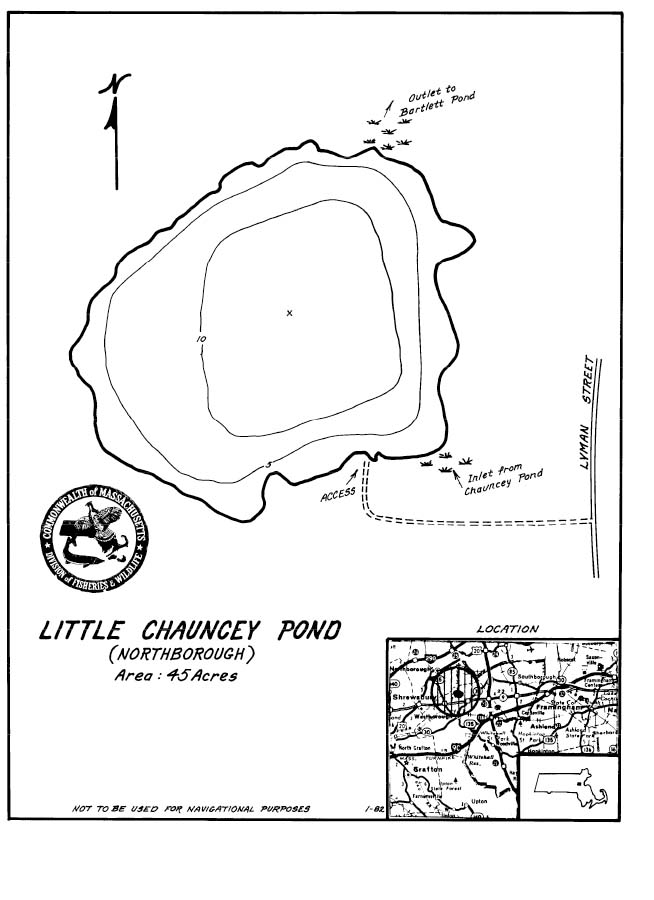 Little Chauncy Pond Map