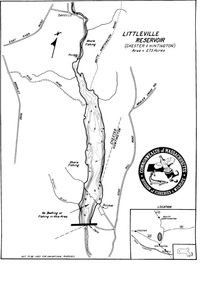 Littleville Reservoir Map