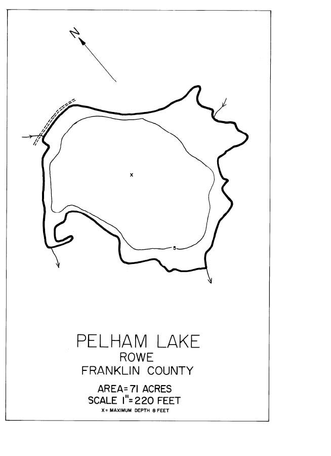Pelham Lake Map