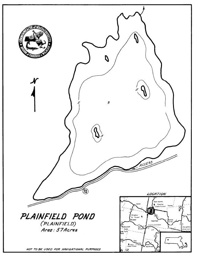 Plainfield Pond Map