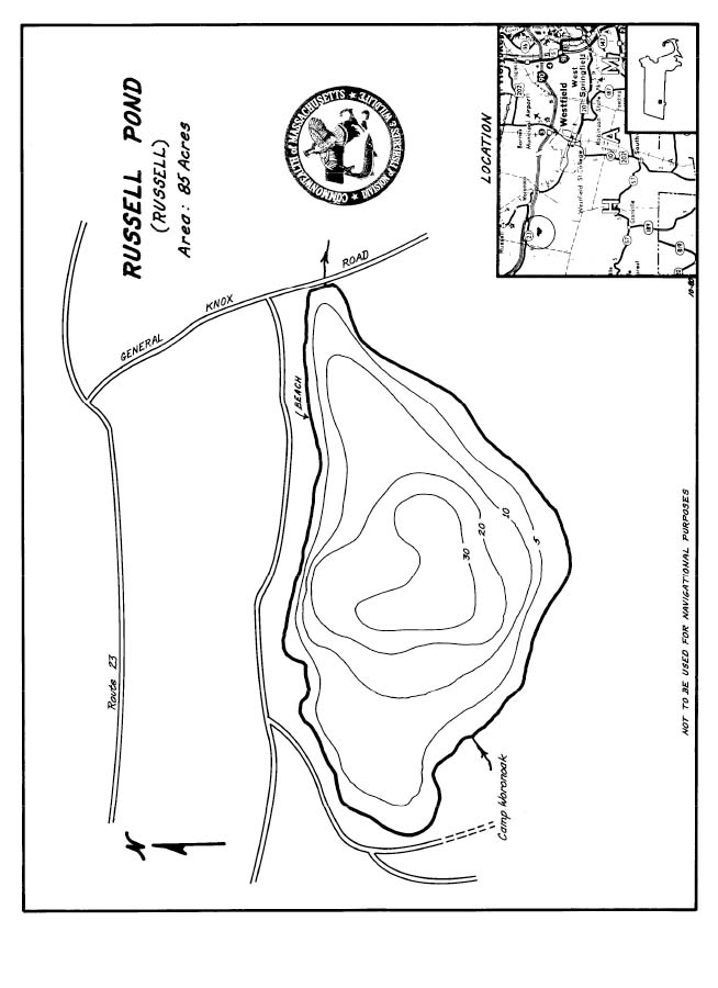Russells Pond Map