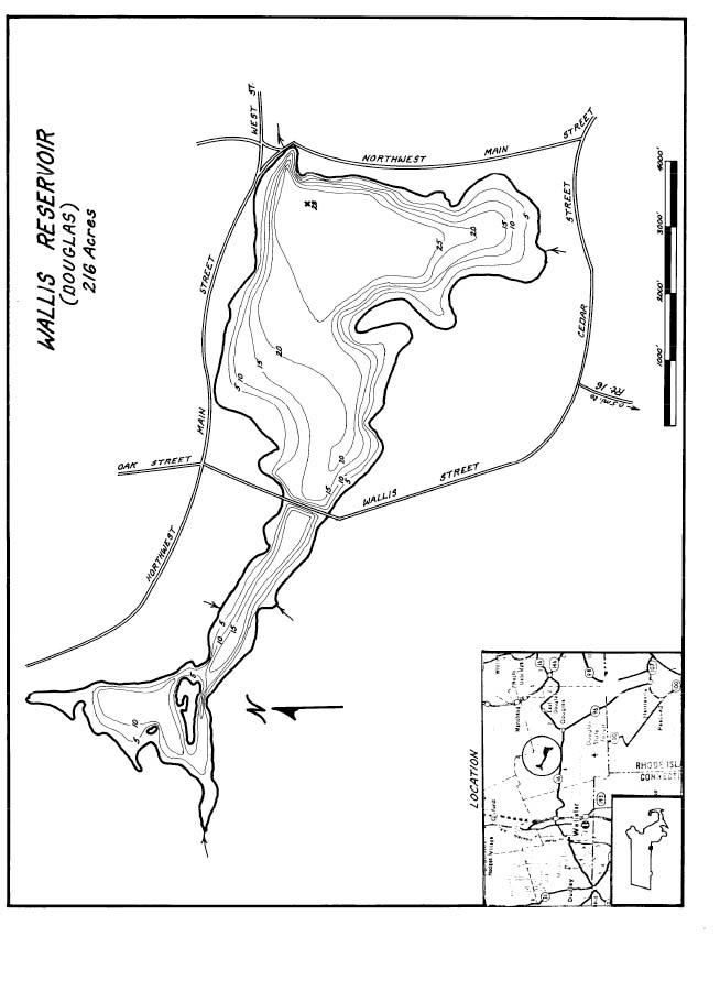 Wallis Reservoir Map
