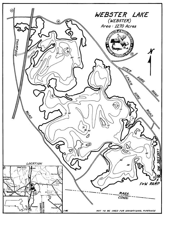Webster Lake Map