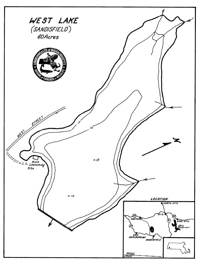 West Lake Pond Map